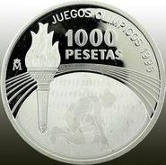 Espagne, 1000 Pesetas 1995 - Argent /silver Proof - Hologram - [ 5] 1949-… : Kingdom