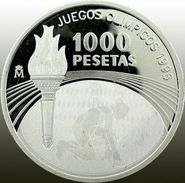 Espagne, 1000 Pesetas 1995 - Argent /silver Proof - Hologram - 1 000 Pesetas