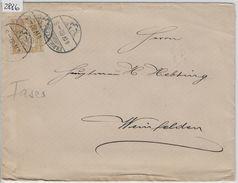 1882 Sitzende Helvetia/Helvétie Assise Nr. 44/36 2c Brief Frauenfeld Nach Weinfelden 6.IV.82 - 1862-1881 Helvetia Assise (dentelés)