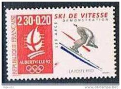 Timbre France 1990 Yt N°2675 MNH ** Jeux Olympiques D'Albertville Ski De Vitesse - Nuevos