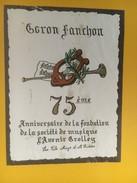 4491 -  75e Anniversaire De La Sociét De Musique L'Avenir Grolley Fribourg Goron Fanchon - Musique