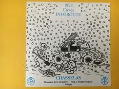 4497 -  Cuvée Inforoute 1992 Touring Club Suisse Chasselas Satigny Mettre Les Chaînes Sous La Neige - Voitures