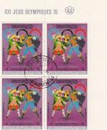 CAMBODIA KHMERE BLOC 4.  DE MUNICH A MONTREAL. XXI JEUX OLYMPIQUES 1976 FENCING ESCRIME / 4107 - Cambodia