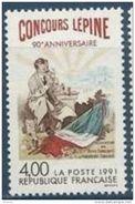 """Timbre France Yt 2694 """" Concours Lépine 90e Anniversaire """" 1991 Neuf ** - France"""