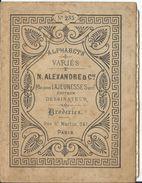 LIVRET ALPHABETS VARIES -N.ALEXANDRE &Cie -DESSINATEUR-BRODERIES- N°235 -COMPRENANT 7 FEUILLETS ATTACHES ALPHABETS - Cross Stitch