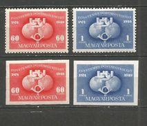 HUNGRIA YVERT NUM. 916/917 * SERIE COMPLETA CON FIJASELLOS -DENTADA Y SIN DENTAR- - Hongrie