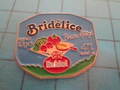 Pin915c Pin's Pins /  ALIMENTATION : BEURRE ALLEGE BRIDELICE RADIS TOMATE ; Pas Courant Et De Belle Qualité !!! - Alimentation