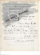 70 - Haute-saône - FOUGEROLLES - Facture REUCHET-OUGIER - Imprimerie - 1901 - REF 71C - France