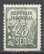 Indonesia 1951. Scott #376 (U) Numeral, Numéral - Indonésie