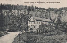 AK Gasthof Kirnitzschenke Kirnitzschänke Rabensteine A Hinterdittersbach Hinterdaubitz Hinterhermsdorf Khaa Bahnpost ? - Sudeten