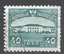 Indonesia 1953, Scott #379 (U) Post Office, Bureau De Poste - Indonésie