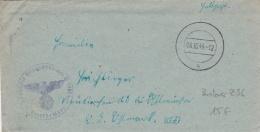 Feldpost WW2: From Gotenhafen - The Destroyer Zerstörer Z 36  FP M54855 P/m 8.10.1944 - Letter Inside (DD2-20) - Militaria