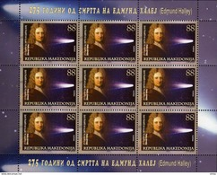 Macedonia / 2017 / M/S / ASTRONOMY - The 275th Anniversary Of The Death Of Edmund Halley - Macedonia