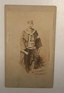 OLD CARDBOARD PHOTO     PRINCE FREDERIC CHARLES DE PRUSSE  PRINZ FRIDRICH CARL V PREUSSEN      10,5 X 6,5 - Berühmtheiten