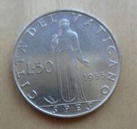 50 LIRE DEL VATICANO 1955 DI PIO XII° - - Vaticano