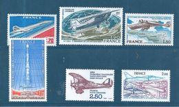 France PA De 1976/81  N°49 A 54  Neufs ** Parfait Sans  Charnière - Poste Aérienne