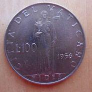 100 LIRE DEL VATICANO 1956 DI PIO XII° - - Vaticano
