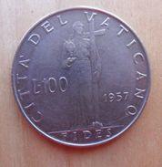 100 LIRE DEL VATICANO 1957 DI PIO XII° - - Vaticano