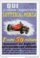 [DC1620] CARTOLINEA - LOTTERIA DI MONZA - RIPRODUZIONE LOCANDINA 1954 - ILLUSTRAZIONE PUNCH (50) - Monza