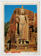 MAXICARD      COLOSSAL  STATUE  OF  LORD  BUDDHA  --AUKANA       2 SCAN   (VIAGGIATA) - Sri Lanka (Ceylon)