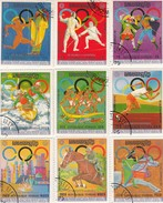 CAMBODIA KHMERE 9 STAMPS  DE MUNICH A MONTREAL. XXI JEUX OLYMPIQUES 1976 FENCING ESCRIME / 2040 - Estate 1976: Montreal