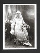 NOCES - ADORNED IN PEARLS 1924 - 6½ X 4¾ Po - 16½ X 12 Cm - PHOTO JAMES VAN DER ZEE - Noces