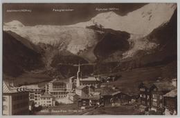Saas-Fee (1800 M) Alphubel, Allalinhorn, Feegletscher - Phototypie No. 6620 - VS Wallis