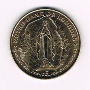 )  PENNING  NOTRE - DAME DE LOURDES - SANCTUAIRES NOTRE DAME - Elongated Coins