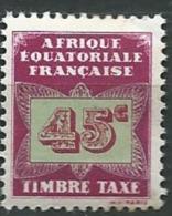 Afrique Equatoriale Française  Taxe - Yvert N° 6 ** - Ad30722 - Ongebruikt