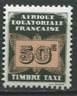 Afrique Equatoriale Française  Taxe - Yvert N° 7 ** - Ad30723 - Oubangui (1915-1936)