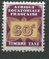 Afrique Equatoriale Française  Taxe - Yvert N° 8 ** - Ad30724 - Ongebruikt
