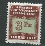Afrique Equatoriale Française  Taxe - Yvert N° 11 ** - Ad30726 - Oubangui (1915-1936)