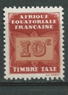 Afrique Equatoriale Française  Taxe - Yvert N° 2 ** - Ad30729 - Ongebruikt