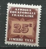 Afrique Equatoriale Française  Taxe - Yvert N° 4 ** - Ad30731 - Ongebruikt