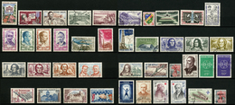 FRANCE - ANNEE COMPLETE 1959 - YT 1189 à 1229 - 41 TIMBRES OBLITERES - 1950-1959