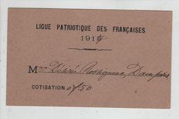 Ligue Patriotique Des Françaises 1915 1917 Rossigneux Damparis  Rare - Guerre, Militaire