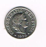 )  ZWITSERLAND  5 RAPPEN  1939 - Suiza