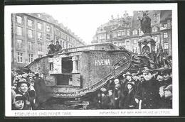 AK Leipzig, Erbeuteter Englischer Tank Auf Dem Marktplatz - Guerre 1914-18