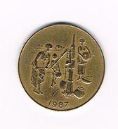 )  WEST AFRICAN STATES  10 FRANCS  1987 - Centrafricaine (République)