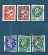 France Préos De 1922/47  N°84 A 89 Neufs ** - 1893-1947