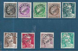 France Préos De 1922/47  N°91 A 98  Neufs ** - 1893-1947