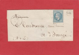 Maine Et Loire - Durtal - GC1368 Sur N°29 - Origine Rurale - LSC 1870 - Marcophilie (Lettres)