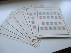 Sammlung 15 Seiten SBZ Etwas Lokalausgaben * / Erstfalz. Viele Marken / Sätze. Stöberposten / Fundgrube?!? - Sammlungen (ohne Album)