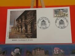 Coté 1,80€ - Redon Tour Romane - 7.3.1987 - 35 Redon - FDC 1er Jour - FDC