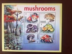 Dominica 2001 Mushrooms Sheetlet MNH - Pilze