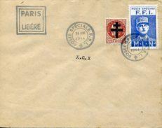 FRANCE LIBERATION FFI DE PARIS SUR LETTRE DU 26/08/1944 COVER - Briefe U. Dokumente