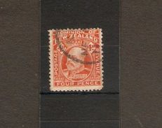 NEW ZEALAND 1910 4d,ORANGE SG 396 PERF 14 FINE USED Cat £15 - Used Stamps