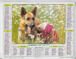 Calendrier Des PTT 1987 - Calendriers