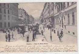 Genève - Rue Du Mont Blanc - Trams à Cheval - 1904      (P-73-41225) - GE Genève