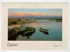 MAXICARD   CYPRUS   LATCHI  HARBOUR    2  SCAN   (VIAGGIATA) - Cipro